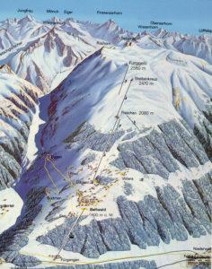 Bergkaart Bellwald